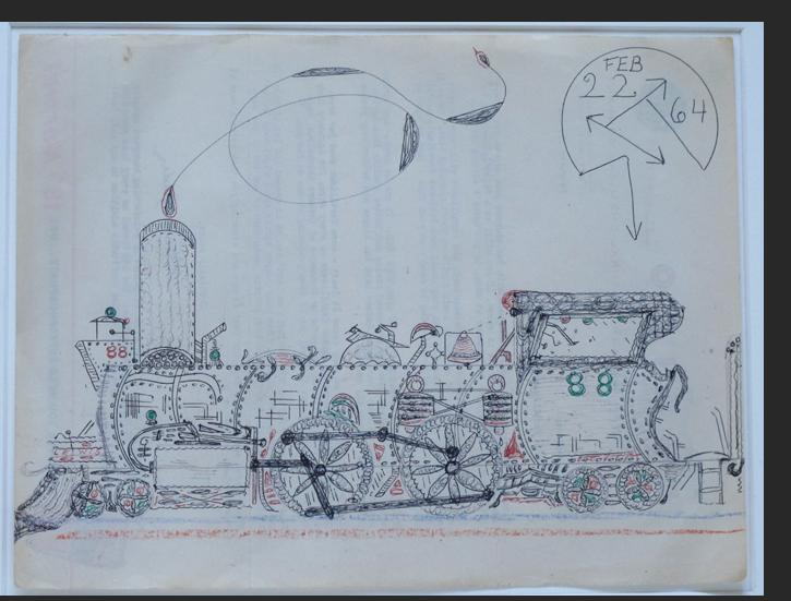 Smith - LOCOMOTIVE 88 1964 ink, pencil, crayon on paper