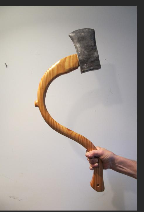 Howard Jones -  Pregnant Axe 2013 Wood, iron