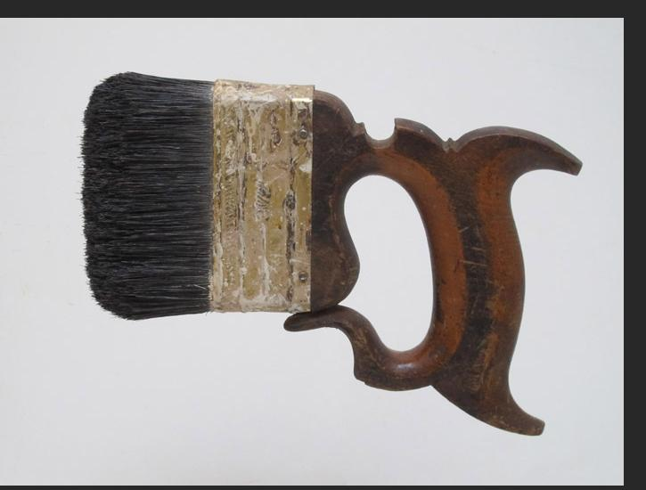 Howard Jones -  Saw Brush 2013 Wood, tin, bristles 5.75 x 7 x 0.8 inches