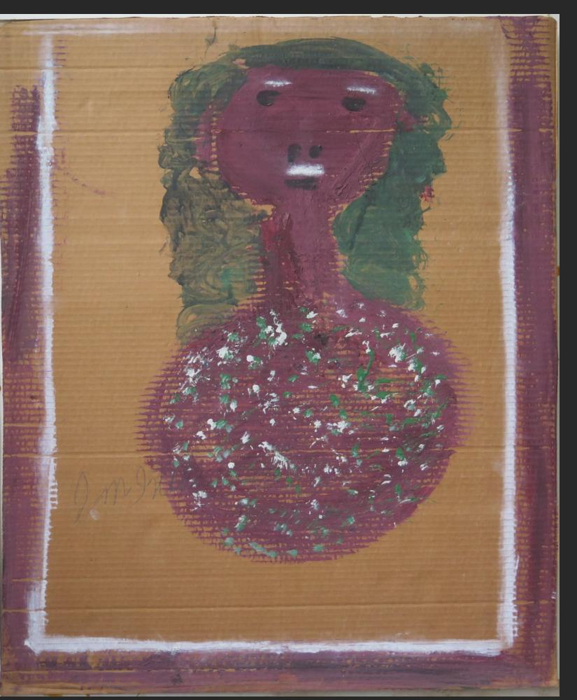 untitled bust - elderberry, paint on cardboard  $1800