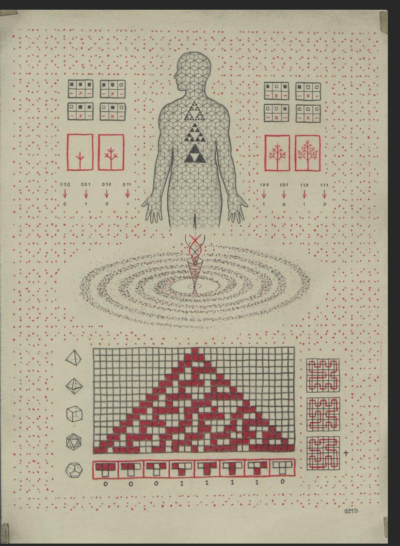 Daniel Martin Diaz Collective Consciousness, ink, colored paper on paper, 11.5 x 8.5 in. $3000