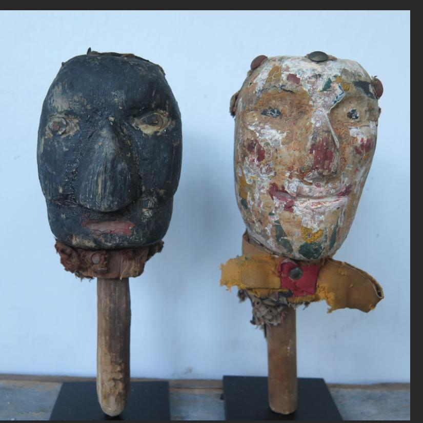 Pair of puppet heads