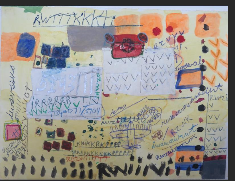 Sam Gant, untitled, mixed media on paper, 30 x 23 in. $1500