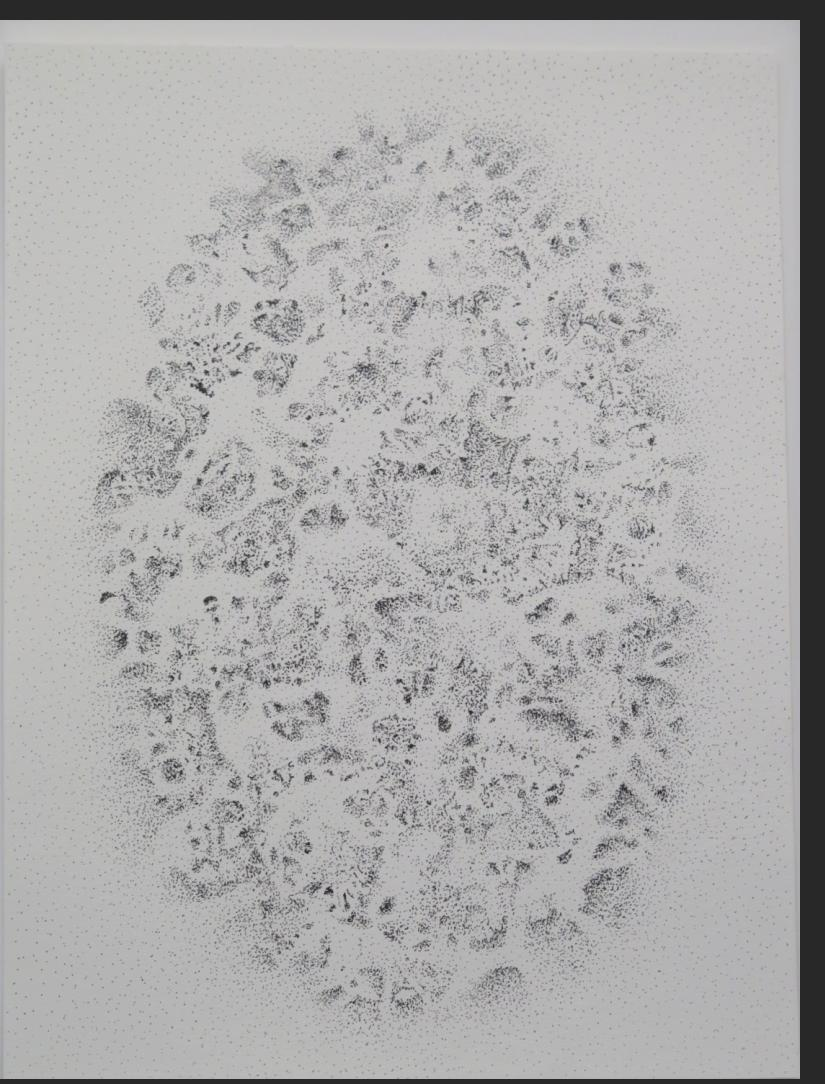 Charles Benefiel, Psychic Boom #2, ink on paper, 12 x 9 in. 2020, $1200,