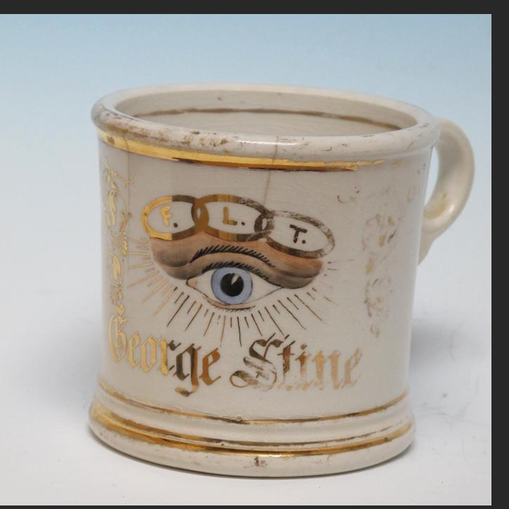Odd Fellows Cup With Eye American Primitive Gallery
